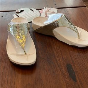 Fitflop gold size 9